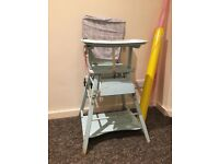Vintage child's high chair shabby chic