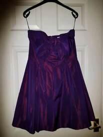 two tone taffita prom dress