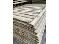 Timber Treated Green Fence Panels