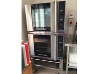 Double Turbofan oven blue seal with stacking frame