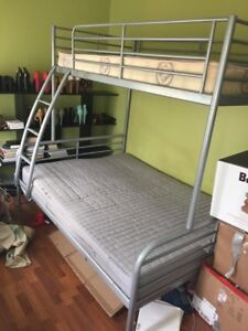 Bunk bed and mattress