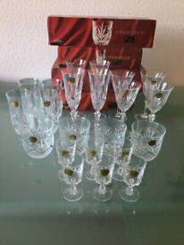 Crystal glasses x 5 Sets