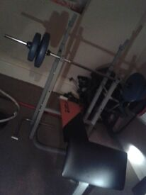 Weight bench with other stuff