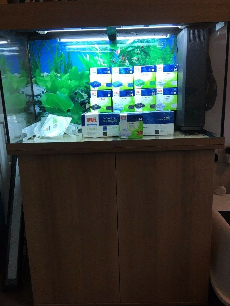 juwel rio 125 aquarium and cabinet includes heater filter light in stoke on trent. Black Bedroom Furniture Sets. Home Design Ideas