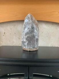 New grey Himalayan salt stone lamp