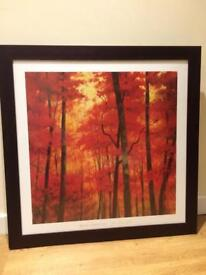 Large square woodland print