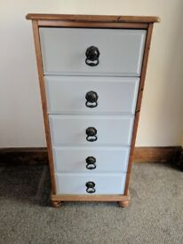 """Solid Pine Narrow Chest of Drawers 37""""x18""""x15"""""""