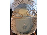 Wicker Moses basket and stand