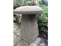Large Staddle Stone Rik Stone Mushroom Handmade £90.00