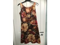 Phase Eight sateen floral dress - size 14
