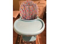 Mothercare Blue High Chair