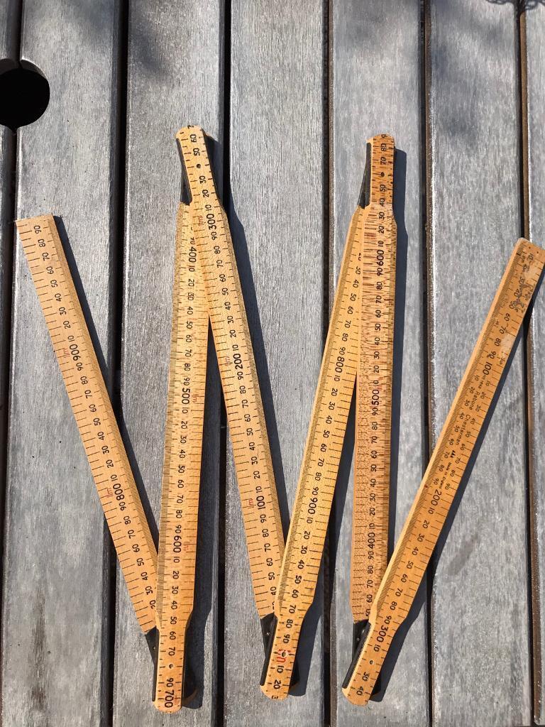 """Wooden Folding Rule 2m/6'6"""""""