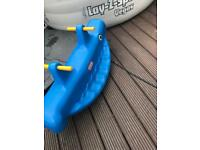Little tikes twin see saw double whale teeter totter