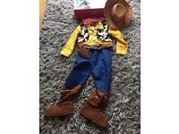 Never worn Disney store woody costume 7-8yrs