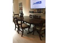 Large Dining Table (extendable) with 6 chairs