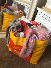 Bags of girls clothes