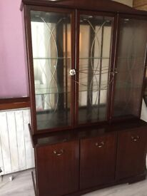 Cabinet glass door with light inside