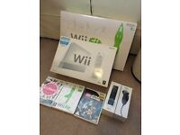 Nintendo Wii, Wii Fit, extra remote and nunchuck, 2 additional games