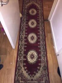 Fluffy Red Long Carpet