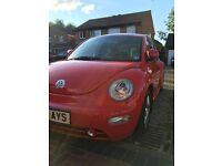Red VW Beetle 1.8 Turbo 2003