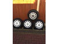Car tyres / wheel trim / VW centre badge