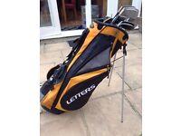 John letters golf clubs (full set) and golf cart