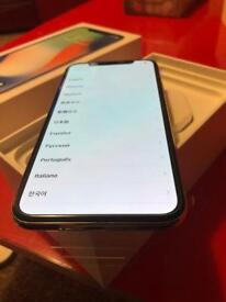 Iphone x 256gb silver brand new boxed