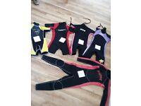 Wetsuits for kids hardly worn excellent condition 6-10 yr olds £9 each