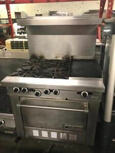 Garland gas 4 burner with griddle and oven for only $1295 ! Shipping anywhere in Canada !