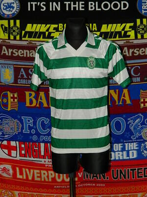 3/5 Sporting Club adults M 1988 original football shirt jersey trikot soccer image
