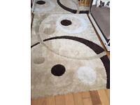 Shaggy rugs 3 same design good condition 160x230cm