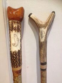 Wading staff, thumbtack, walking stick