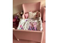 Ikea Pink toddler bed and mattress