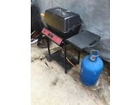 Gas BBQ with gas bottle and Cover