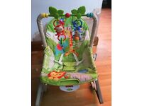 Fisher-Price Rainforest Friends Infant-to-Toddler Rocker Seat
