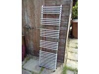 Ladder-style chrome towel rail
