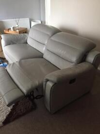 Sofa leather reclining, excellent condition. 150 only