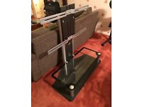 Black and glass tv stand