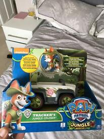 Paw patrol trackers jungle cruiser.