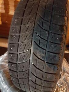 4 PNEUS HIVER - BRIDGESTONE RFT 195 55 16 - 4 WINTER TIRES