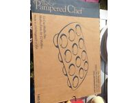 Pampered chef stoneware muffin tray