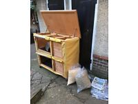 Double hutch, cover & lots of accessories
