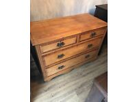 Gorgeous 4 Drawer Antique Chest Of Drawers. Can Deliver.