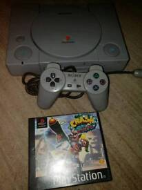 Sony ps1 console and crash Bandicoot 3