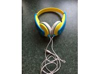 Immaculate JVC Tinyphones Headphones in Blue / Yellow