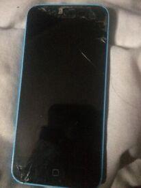 iPhone 5c blue. Just needs sceen repairing then works fine