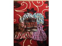 Bundle of ladies strapless dresses with belts one size