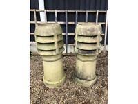 Chimney pots (pair) planters