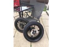 GSXR 1000K5 complete wheels