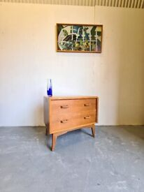 Mid Century 1950's Oak Chest of Drawers by G Plan